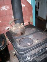 Antique Stove and Kettle by KelbelleStock