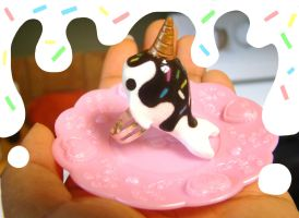 Ice Cream Narwhal ring by SprinkleChick