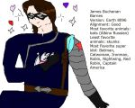 EMH Winter Soldier with Russian Albino Snowbat by Dinzydragon