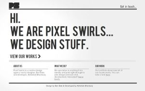 Pixel Swirls Web Design by benbate
