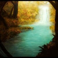 waterfall by WiredHuman