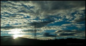 Power lines in the morning by urnightmare