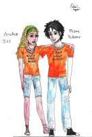 Annabeth and Percy by EmiliaArgon