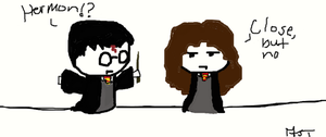 harry and hermione by mjt2410