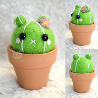 Felted Bear Cactus by xxNostalgic
