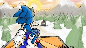 Sonic Snowboard by Whyneedacoolname