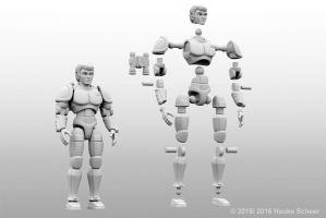 3D printed space hero action figure - joint setup by hauke3000