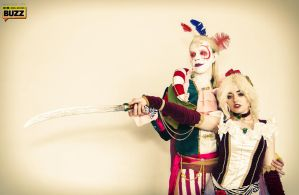 Kefka and Terra - Final Fantasy VI by Paper-Cube