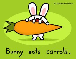 Bunny Eats Carrots by sebreg