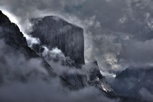 El Capitan in the clouds by wrongpixel