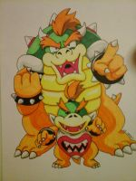 Bowser and Bowser Jr by Star-Rocket