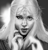 f(x) Krystal Red Light speed painting by CatThatEatsDogs