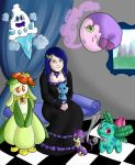 Agata y sus pokemons by 00TY