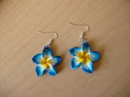Plumeria Earrings by KittyAzura