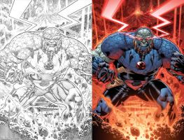 Villains Month:  DARKSEID #1 by DustinYee