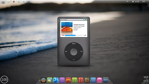 iPod Classic Rainmeter Skin desktop screenshot by TimoBRL