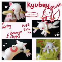 Madoka Magica Kyubey plush commission by SilkenCat
