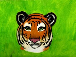 Tiger painting by xXMeganMavelousXx