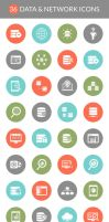 36 Free Data And Network Icons Set by Fusionrohan
