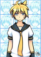 The many faces of Kagamine Len by DejiNyucu