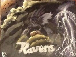 Baltimore Ravens acrylic painting by theoddlydifferentone