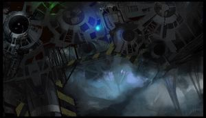 Science fiction scene 3 by paooo