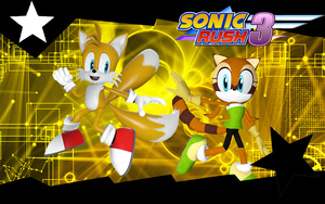 Sonic Rush 3-Tails-and-Marine by NIBROCrock