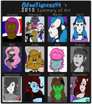 Summary of Art for 2015 by BlueTigress94