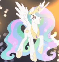 Princess Celestia by the sun by Phot0pon3