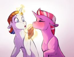 Failed first kiss by Vindhov