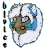 BluIceLion Steampunk Badge by SiliaHollow