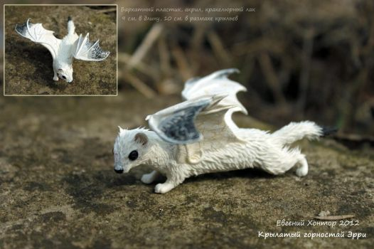 Winged ermine Erry by hontor