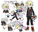 Gladion and Lillie Role Switch AU by mizukijin