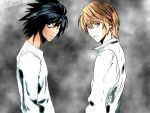 Death Note L and Light by synyster696