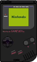 Nintendo Game Boy [Deep Black] by BLUEamnesiac