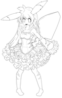 Pikachu Girl FREE LINEART by chatt3rbox