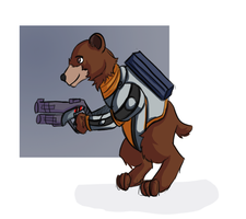 Kyle the Bear: Mass Effect by TanyaTanypoo