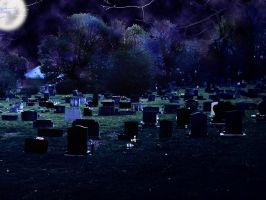 Cemetary by Night by reverendh