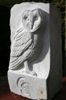 Barn Owl Carving by cycoze
