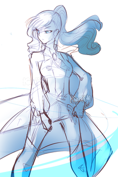 winter schnee .:sketch/wip:. by kyashee