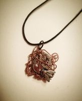 Copper Bee Pendant by Sooim