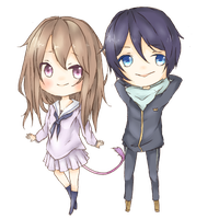 [Noragami] Yato and Hiyori by oreiio