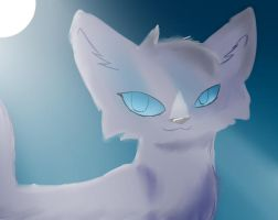sss warrior cats Bluestar in 3D by sonamy2905