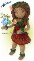 Leilani ~ Hawaiian Hula @ Sunset - Crochet Doll by MissyBaque