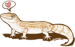 Maggie as a Gecko by etuix