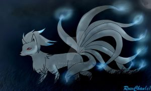 Shiny Ninetales by Roev-Art