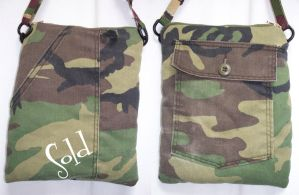 Camo Bag by SmilingMoonCreations