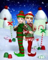 Elves of Candy Mountain by RavenMoonDesigns