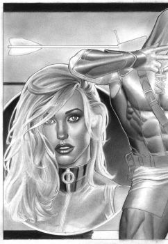 work in progress_ black canary by petervale