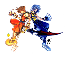 Riku and Sora Crossed Forces by C-Lock-S